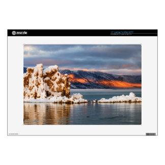 USA, California, Sunrise at Mono Lake Decals For Laptops