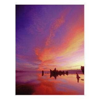 USA, California. Sunrise on Mono Lake Tufa Postcard