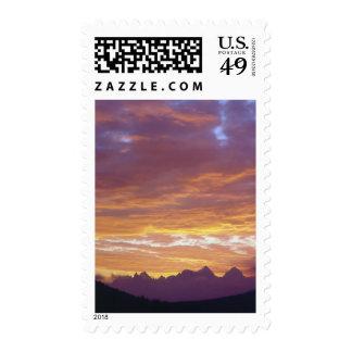 USA, California, Sunset over the Sierra Nevada Postage