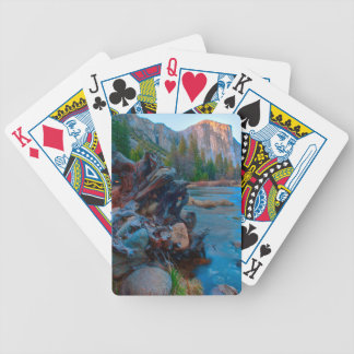 USA, California. Tree Roots In Merced River Bicycle Playing Cards