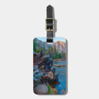 USA, California. Tree Roots In Merced River Luggage Tag