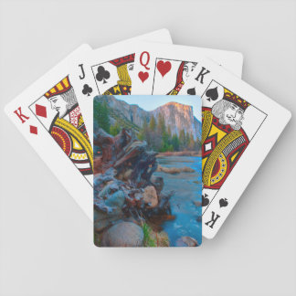 USA, California. Tree Roots In Merced River Playing Cards