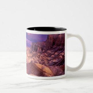 USA, California. View from Zabriske Point of Two-Tone Coffee Mug