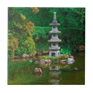 USA, California. View Of A Pond Ceramic Tile