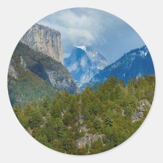 USA, California. View Of Half Dome In Yosemite Classic Round Sticker