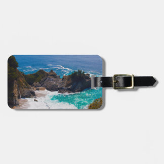 USA, California. View Of Mcway Falls Tag For Luggage