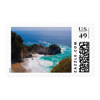 USA, California. View Of Mcway Falls Postage Stamps