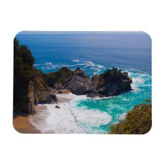 USA, California. View Of Mcway Falls Rectangular Photo Magnet