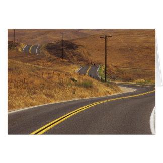 USA, California. Winding country road. Credit Greeting Card