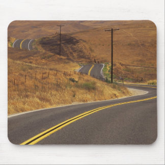 USA, California. Winding country road. Credit Mouse Pad
