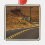 USA, California. Winding country road. Credit Christmas Ornaments