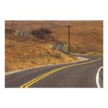 USA, California. Winding country road. Credit Photo Print