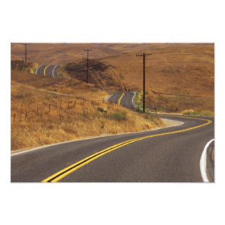 USA, California. Winding country road. Credit Photographic Print