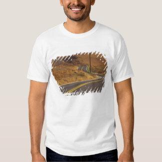USA, California. Winding country road. Credit Shirt