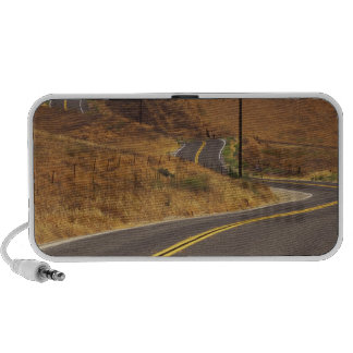 USA, California. Winding country road. Credit iPod Speakers