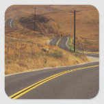 USA, California. Winding country road. Credit Square Sticker