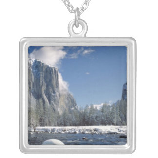 USA, California, Yosemite NP. The Merced River, Silver Plated Necklace