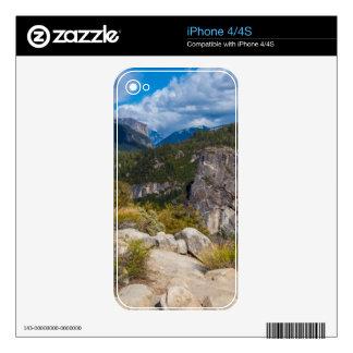 USA, California. Yosemite Valley Vista 2 Skins For iPhone 4S
