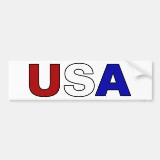 USA CAR BUMPER STICKER