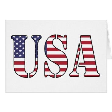 USA Themed USA Card