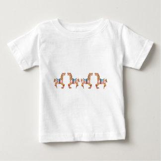 USA Carousel Horses Baby T-Shirt