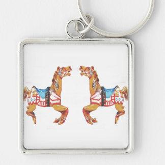 USA Carousel Horses Keychain