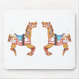 USA Carousel Horses Mouse Pad