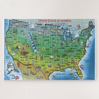 United States Map Jigsaw Puzzles Zazzle - Us map jigsaw puzzle