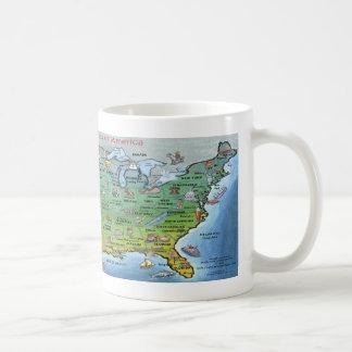 USA Cartoon Map Mugs