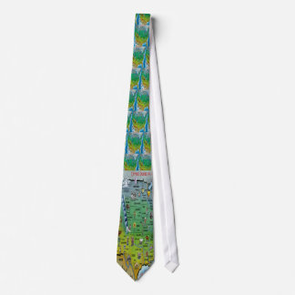 USA Cartoon Map Tie