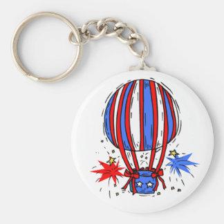 USA-Celebration Balloon Basic Round Button Keychain