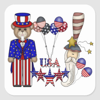 USA Celebration Square Sticker
