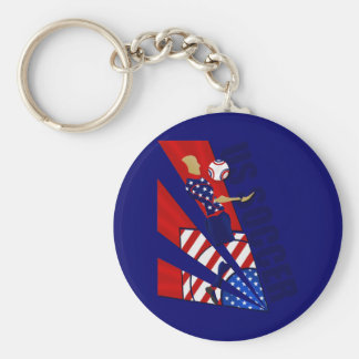 USA Chest control soccer fans soccer art gifts Keychain