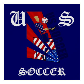 USA Chest control soccer fans soccer art gifts Poster