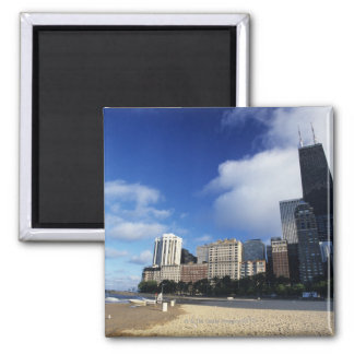 USA, Chicago, Illinois, Oak Street Beach and Magnet