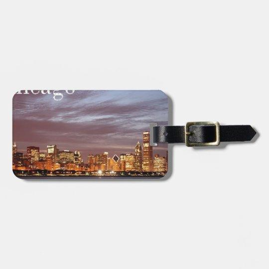 USA Chicago Skyline (add) (St.K) Luggage Tag