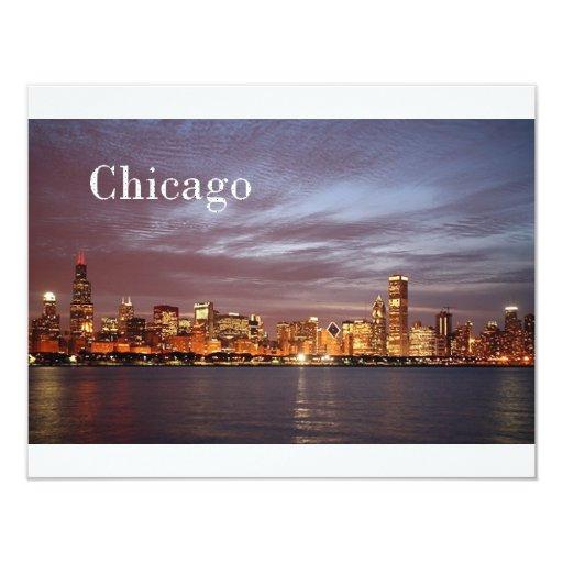 USA Chicago St.K) 4.25x5.5 Paper Invitation Card