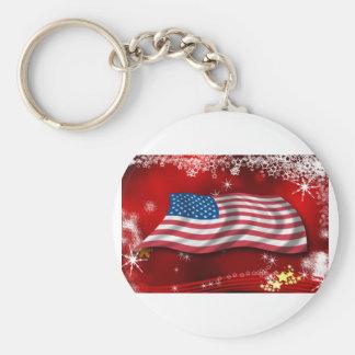 USA Christmas Keychain