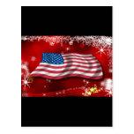 USA Christmas Post Card