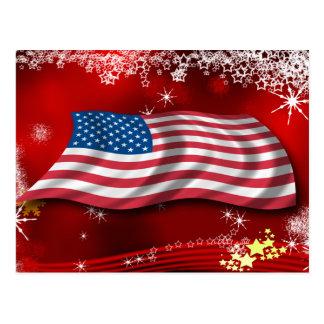 USA Christmas Postcard
