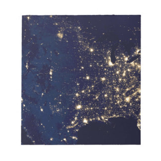 USA City Lights Notepad