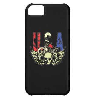 USA Classic Motorcycle Skull With Wings iPhone 5C Covers