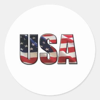 USA CLASSIC ROUND STICKER