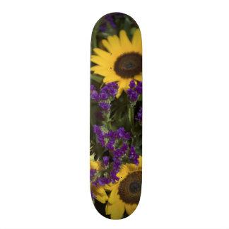 USA, close-up of bridal flower arrangement, Skate Board