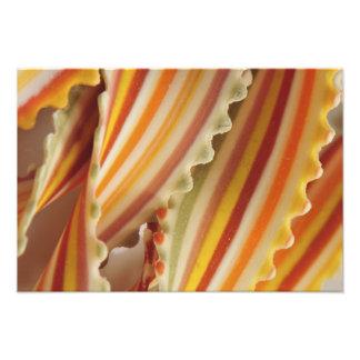 USA Close-up of dried rainbow pasta noodles Photo Print