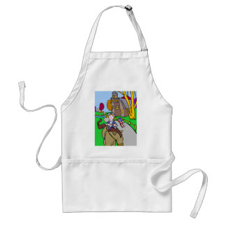 USA Colonial Period Man Riding Horse Adult Apron