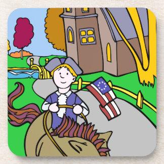 USA Colonial Period Man Riding Horse Coaster