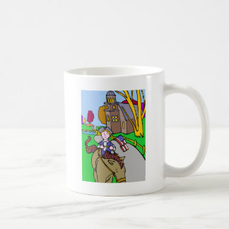 USA Colonial Period Man Riding Horse Coffee Mug