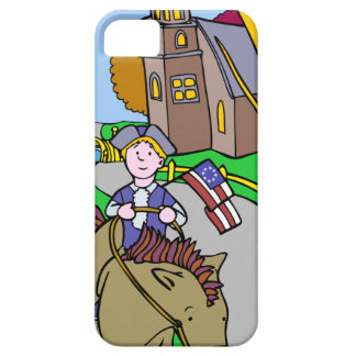 USA Colonial Period Man Riding Horse iPhone SE/5/5s Case