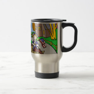USA Colonial Period Man Riding Horse Travel Mug